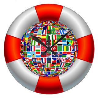 Grande Horloge Ronde Les écoulements du monde