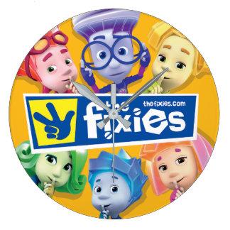Grande Horloge Ronde Les enfants de Fixies | Fixie
