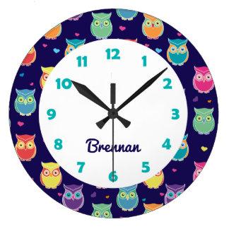 Grande Horloge Ronde Les enfants ont personnalisé l'animal mignon de