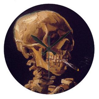 Grande Horloge Ronde L'horloge d'une cigarette brûlante de Van Gogh