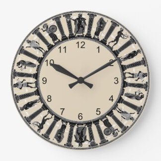 Grande Horloge Ronde L'horloge murale de divinités grecques