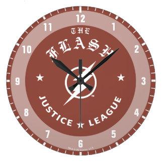 Grande Horloge Ronde Ligue de justice | le rétro emblème instantané de
