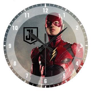 Grande Horloge Ronde Ligue de justice | l'éclair sur le champ de