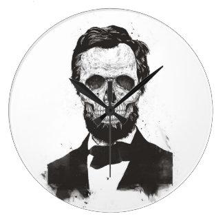 Grande Horloge Ronde Lincoln mort (noir et blanc)