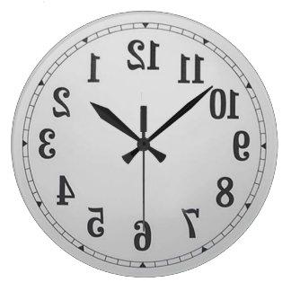 Grande Horloge Ronde L'inverse numérote l'horloge murale