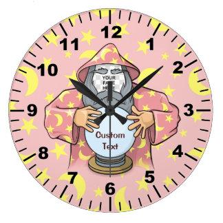 Grande Horloge Ronde Magicien avec votre visage