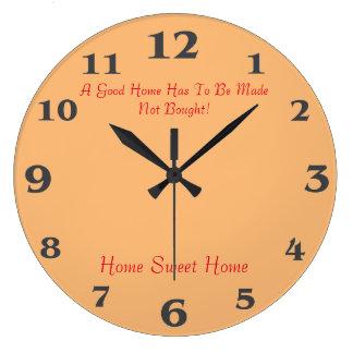 Grande Horloge Ronde Maison douce à la maison pour la