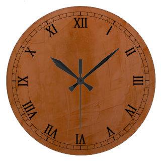 Grande Horloge Ronde Mandarine solide