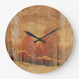 Grande Horloge Ronde Mandarines fanées