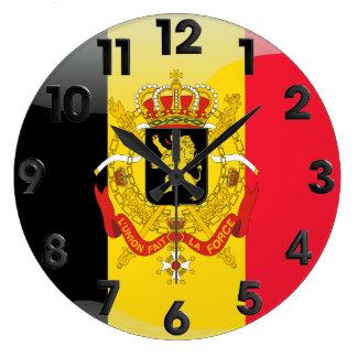 Grande Horloge Ronde Manteau des bras belge
