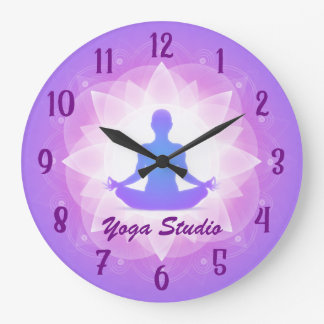 Grande Horloge Ronde Méditation de Lotus de yoga de zen personnalisée