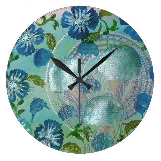 Grande Horloge Ronde Méduses