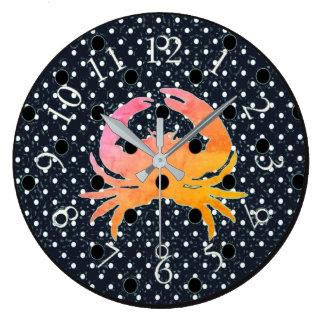 Grande Horloge Ronde Mod-Dots-Crab_