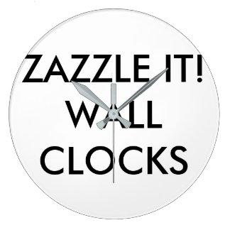 Grande Horloge Ronde Modèle de blanc d'horloge murale personnalisé par