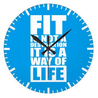 Grande Horloge Ronde Motivation de forme physique - l'ajustement n'est