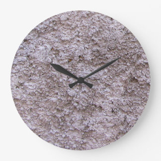 Grande Horloge Ronde Mur gris cru rugueux de construction de Beton