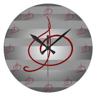 Grande Horloge Ronde Musiciens musicaux Deocr de clef triple de musique