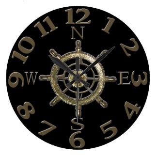 Grande Horloge Ronde Nombres de boussole de côte ouest