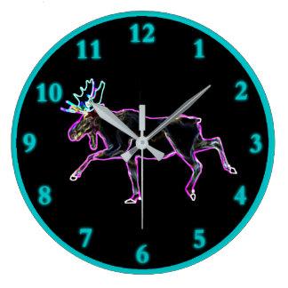 Grande Horloge Ronde Orignaux électriques