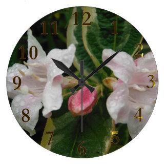 Grande Horloge Ronde paires de fleurs