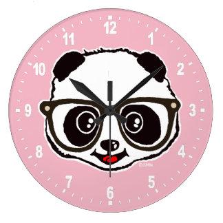 Grande Horloge Ronde Panda mignon