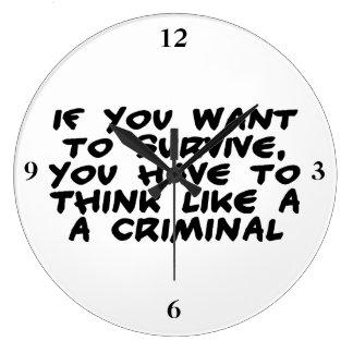 Grande Horloge Ronde Pensez comme un criminel