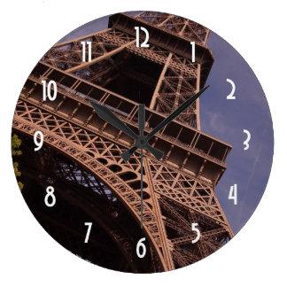 Grande Horloge Ronde Photo célèbre de point de repère de Tour Eiffel de