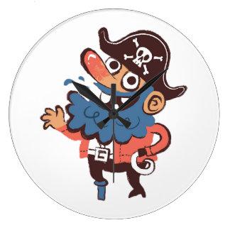 Grande Horloge Ronde Pirate - aléatoire
