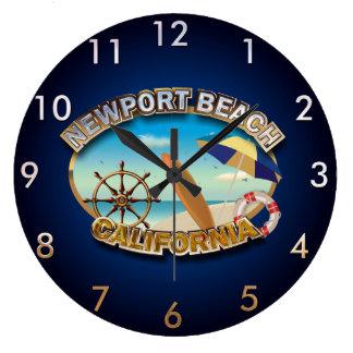 Grande Horloge Ronde Plage de Newport, la Californie