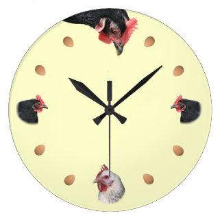Grande Horloge Ronde Poulet et oeuf
