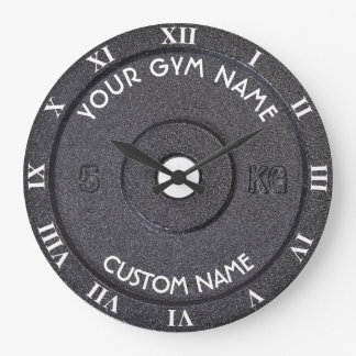 Grande Horloge Ronde Propriétaire ou utilisateur de gymnase avec le