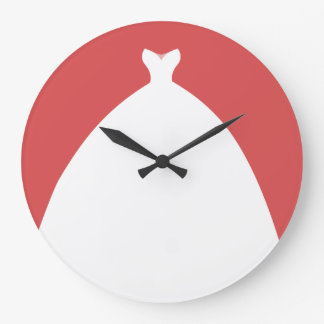 Grande Horloge Ronde Robe de mariage affectueuse