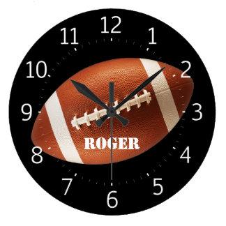 Grande Horloge Ronde Rugby de Personalizable