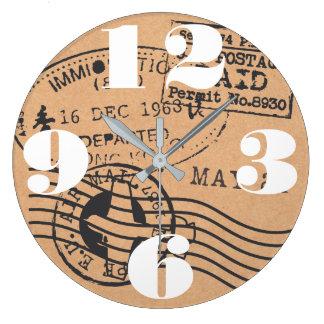 Grande Horloge Ronde Sceaux vintages de voyage