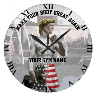 Grande Horloge Ronde Séance d'entraînement drôle Donald Trump de