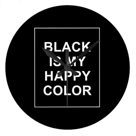 GRANDE HORLOGE RONDE SKAM - BLACK IS MY HAPPY COLOR