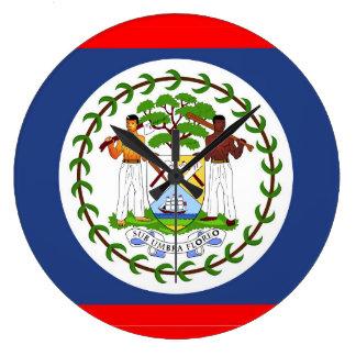 Grande Horloge Ronde Symbole de pays de drapeau de Belize
