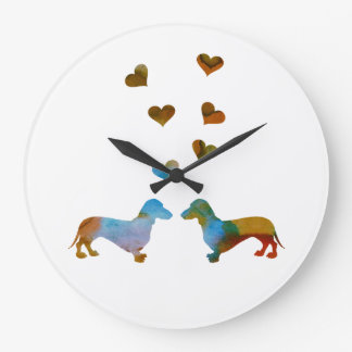 Grande Horloge Ronde Teckels