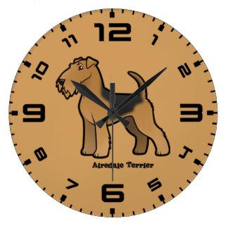 Grande Horloge Ronde terrier d'airedale