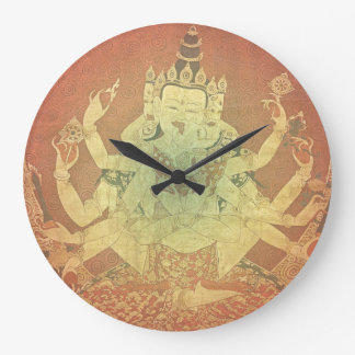 Grande Horloge Ronde Tibétain Thangka de Guhyasamaja Akshobhyavajra