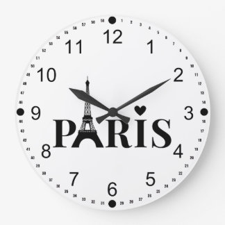 Grande Horloge Ronde Tour Eiffel de Paris