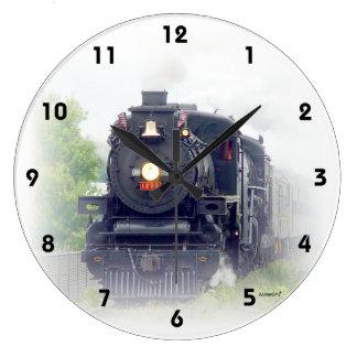 Grande Horloge Ronde Train américain de vapeur