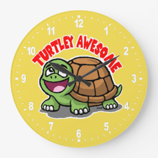 Grande Horloge Ronde Turtley impressionnant