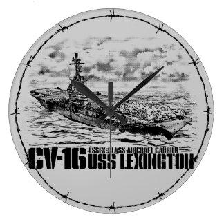 Grande Horloge Ronde Wallclock de Lexington Aif de porte-avions