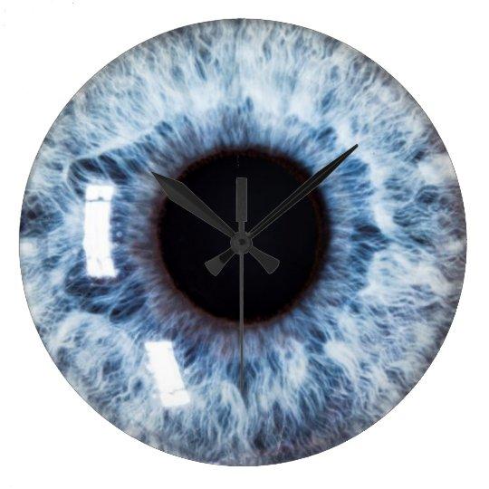 grande horloge ronde yeux sur vous zazzlebe