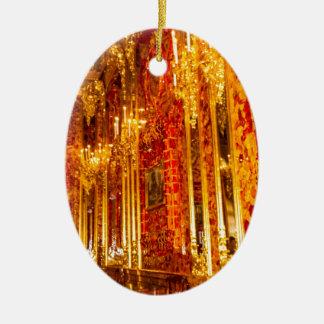 Grande pièce d'ambre de Tsarskoye Selo du palais Ornement Ovale En Céramique