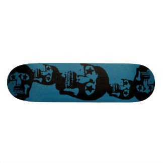 Grande planche à roulettes de Teal de crânes Skateboard Old School 18,1 Cm