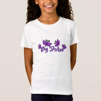 Grande soeur, chemise pourpre de papillons T-Shirt