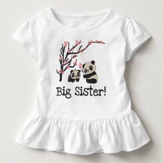 Grande soeur d'ours panda t-shirt pour les tous petits