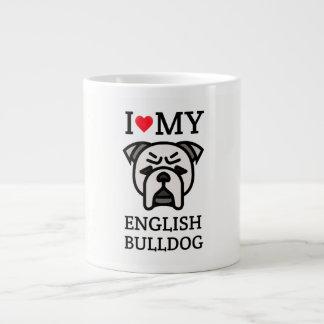 Grande Tasse J'aime mon bouledogue anglais